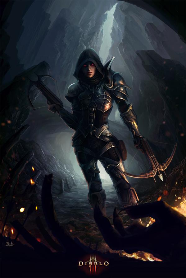Demon Hunter Diablo III wallpaper 1070473